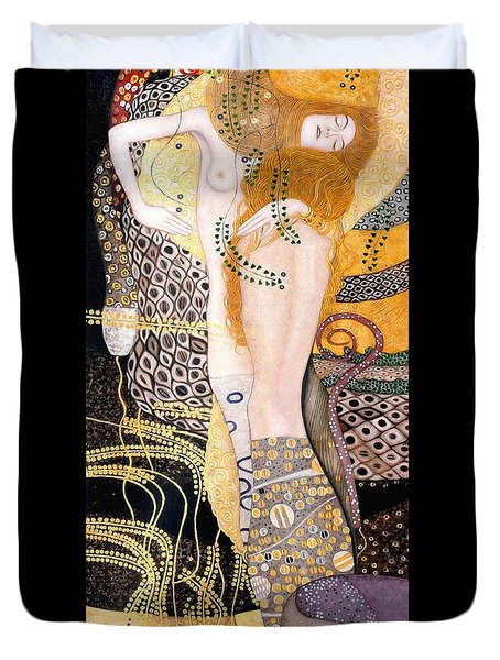 Water Serpents I Duvet Cover by Gustav Klimt