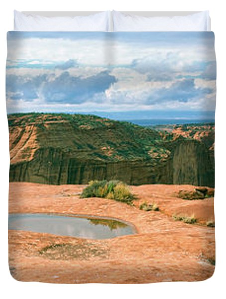Waterpocket Pools, Canyon De Chelly Duvet Cover