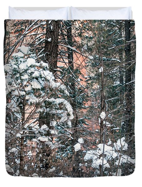 West Fork Snow Duvet Cover