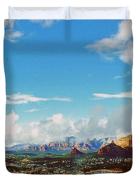 Duvet Cover featuring the photograph West Sedona by Gary Wonning