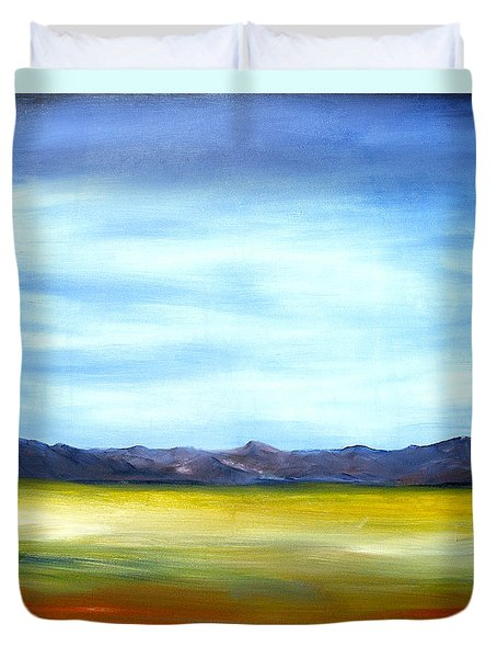West Texas Landscape Duvet Cover