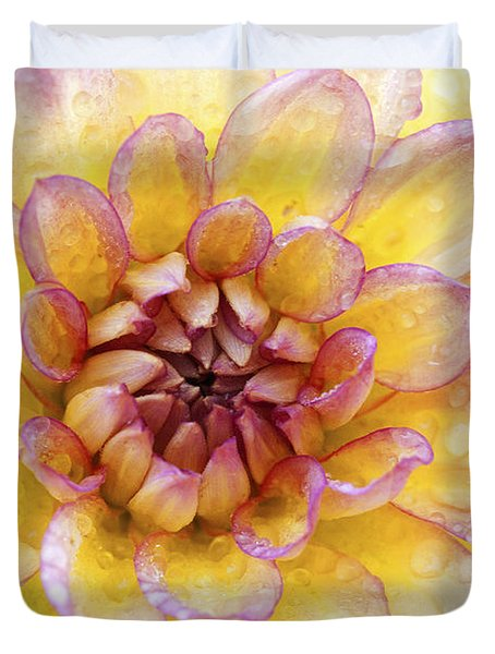 Wet Dahlia Duvet Cover by Paul W Faust -  Impressions of Light