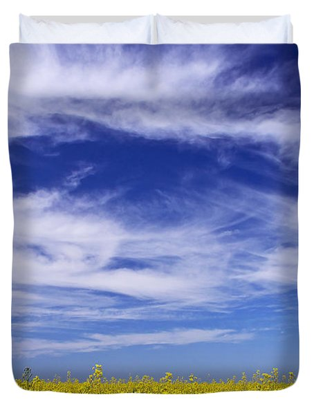 Duvet Cover featuring the photograph Where Land Meets Sky by Keith Armstrong