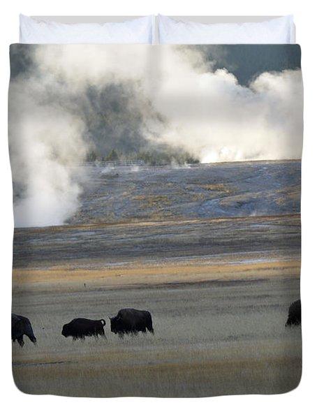 Where The Buffalo Roam Duvet Cover by Bruce Gourley