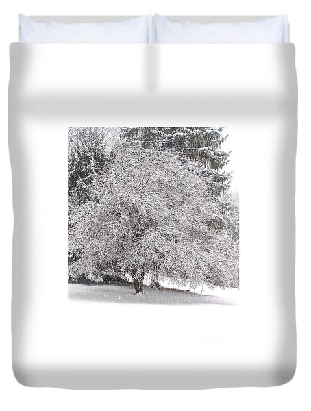 White As Snow Duvet Cover
