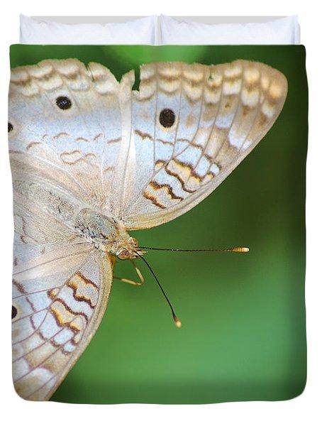 White Peacock Duvet Cover