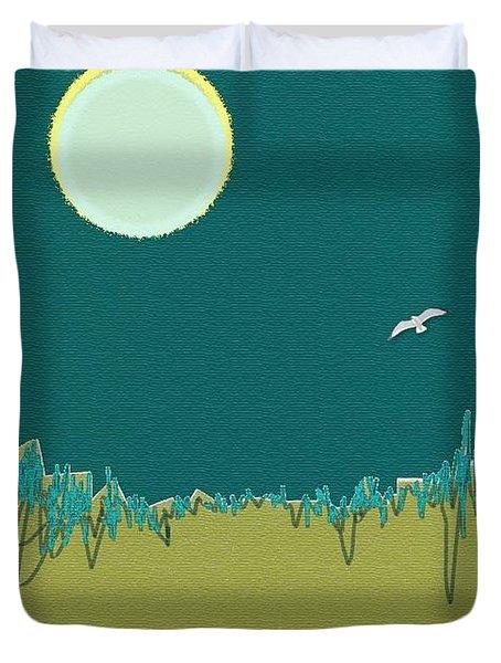 Wild Grasses Duvet Cover by Lenore Senior