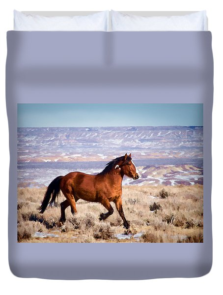 Eagle - Wild Horse Stallion Duvet Cover
