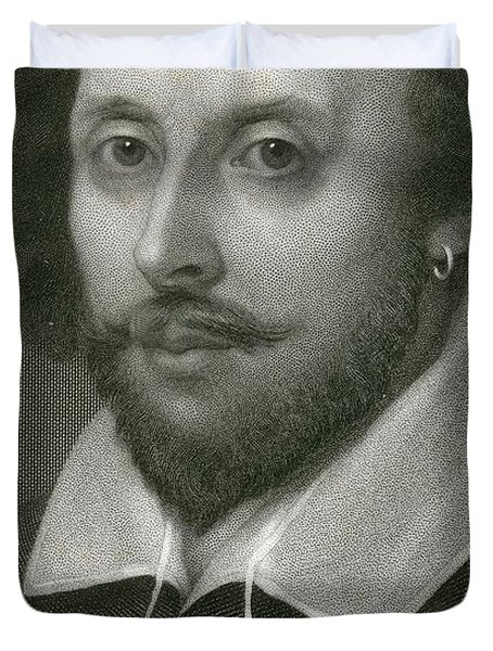 William Shakespeare Duvet Cover by English School