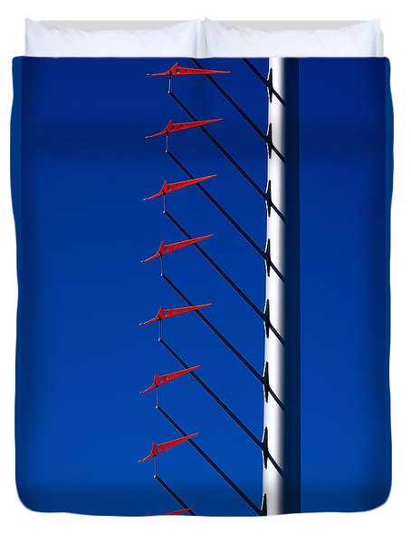 Wind Arrows Duvet Cover by Rona Black