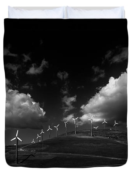 Windmill Electric Power Station Duvet Cover