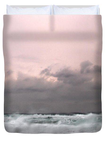 Window Sea Storm  Duvet Cover by Stelios Kleanthous