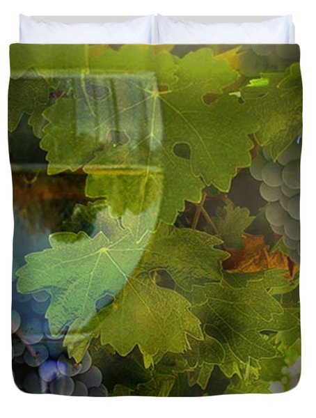 Wine Duvet Cover by Stephanie Laird