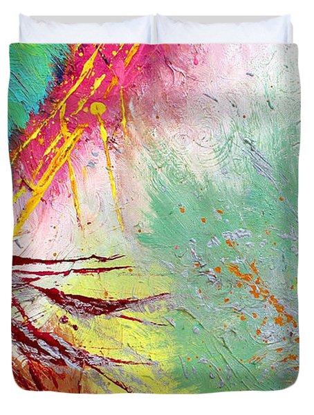 Modern Abstract Diptych Part 2 Duvet Cover