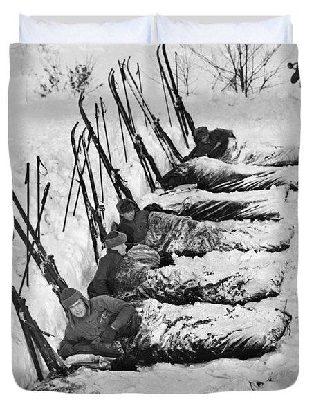 Winter Camping Duvet Cover