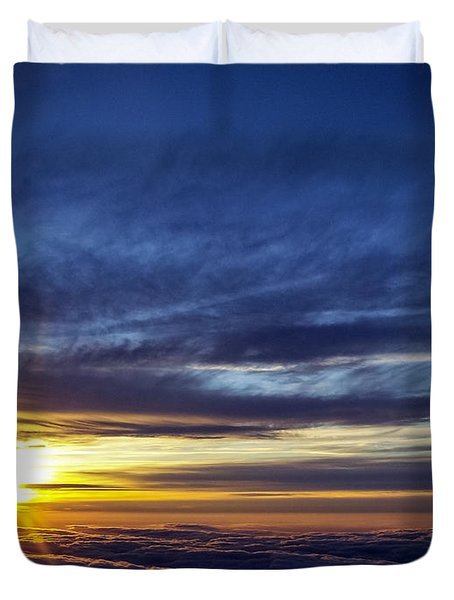 Duvet Cover featuring the photograph Winter Dawn Over New England by Greg Reed