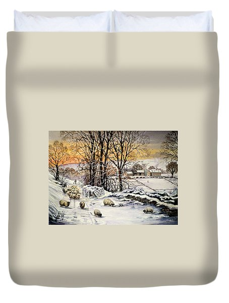 Winter In The Ribble Valley  Duvet Cover