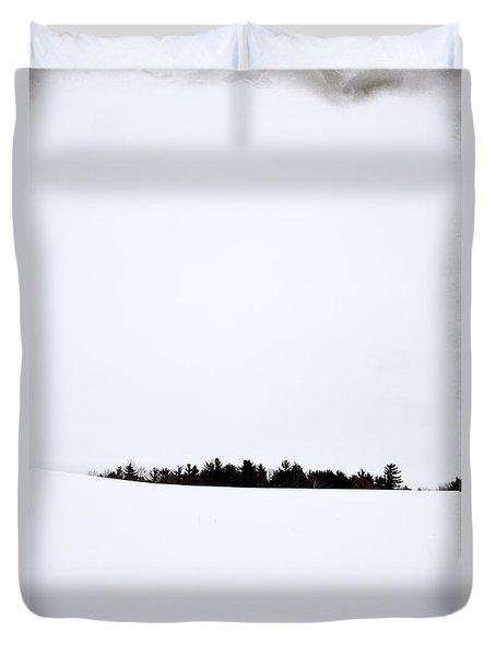 Winter Minimalism Duvet Cover by Edward Fielding