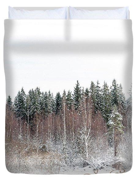 Winter Wonderland. Elegant Knickknacks From Jennyrainbow Duvet Cover by Jenny Rainbow