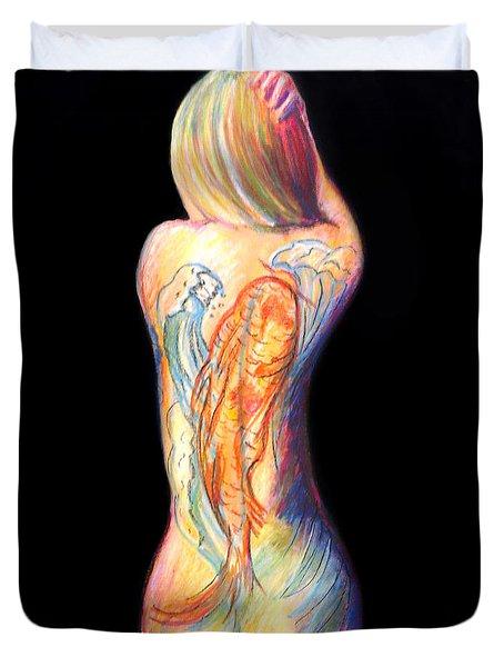 The Koi Tattoo Duvet Cover