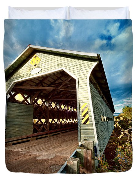 Wooden Covered Bridge  Duvet Cover by Ulrich Schade