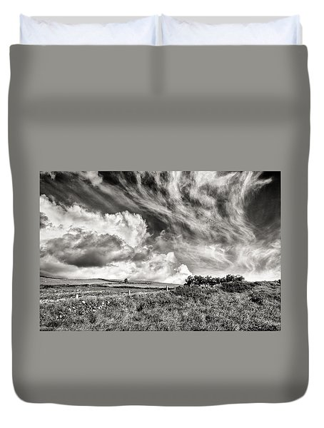 Written In The Wind Duvet Cover
