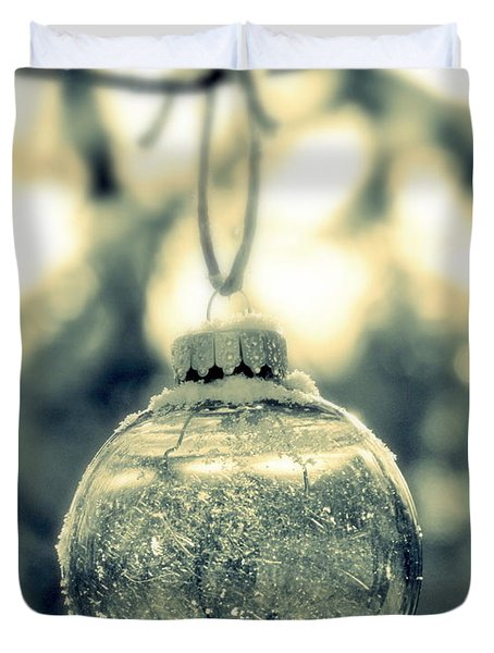 Duvet Cover featuring the photograph Xmas Ball by France Laliberte