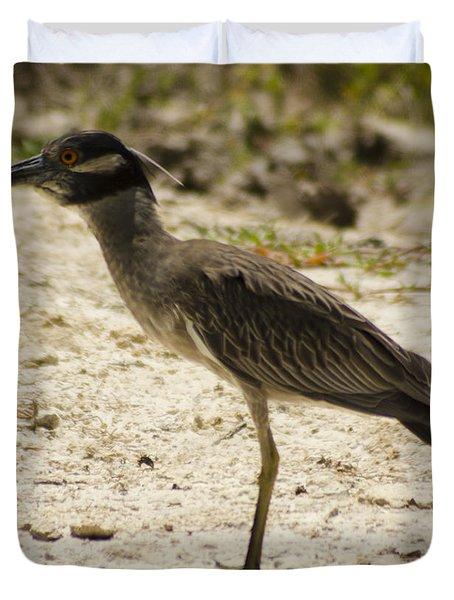Yellow-crowned Night-heron Duvet Cover