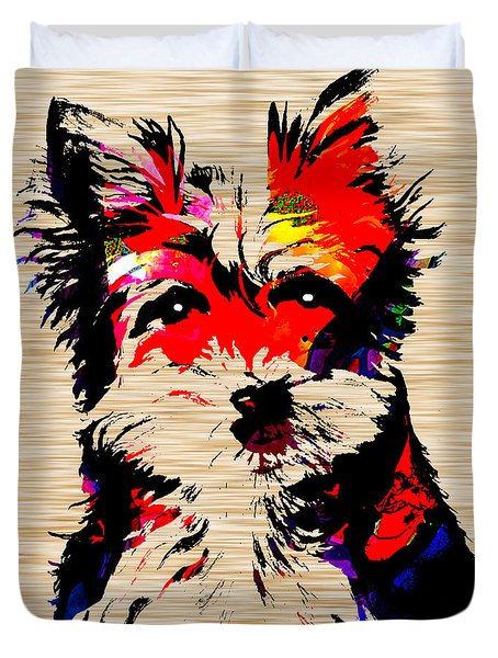 Yorkshire Terrier Duvet Cover by Marvin Blaine
