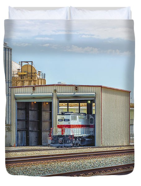 Foster Farms Locomotives Duvet Cover