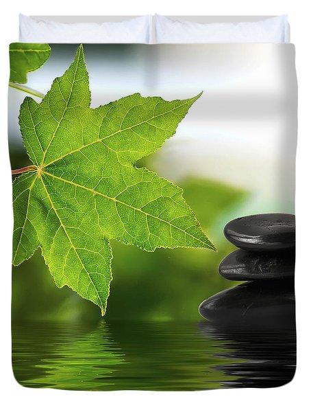 Zen Stones On Water Duvet Cover