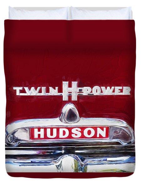 1952 Hudson Hornet 4 Door Sedan Twin H Power Painted  Duvet Cover