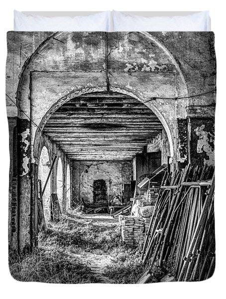Abandoned Villa Duvet Cover