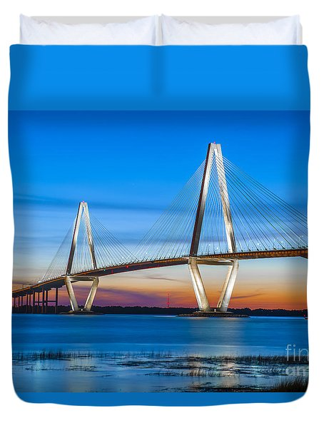 Charleston Arthur Ravenel Bridge Duvet Cover