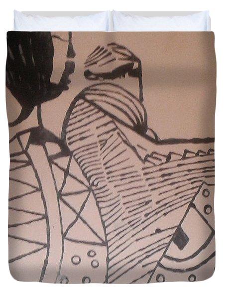 Bikira Maria  Duvet Cover by Gloria Ssali