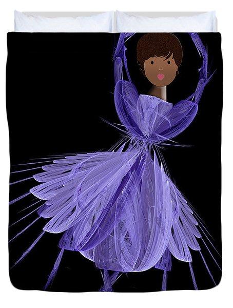 10 Blue Ballerina Duvet Cover by Andee Design