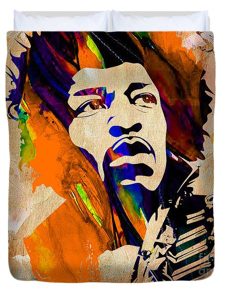 Jimi Hendrix Collection Duvet Cover by Marvin Blaine