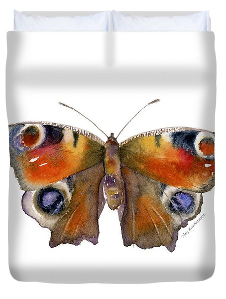 10 Peacock Butterfly Duvet Cover by Amy Kirkpatrick
