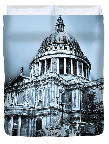 St Paul's Cathedral London Art Duvet Cover by David Pyatt