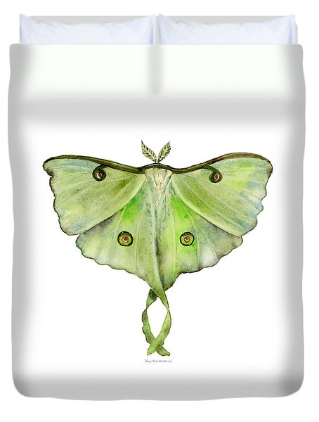 100 Luna Moth Duvet Cover