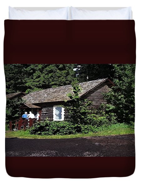 10004600133 Lake Mcdonald Outer Cabins Duvet Cover