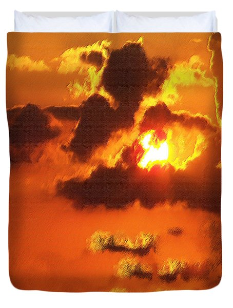 1002206 Louisiana Sun Set Duvet Cover
