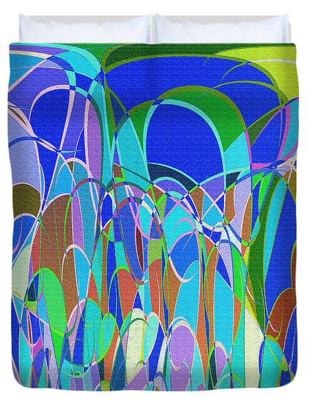 1014 Abstract Thought Duvet Cover by Chowdary V Arikatla