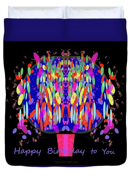 1038 - Happy Birthday  To You Duvet Cover