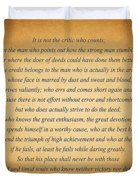 104- Theodore Roosevelt Duvet Cover