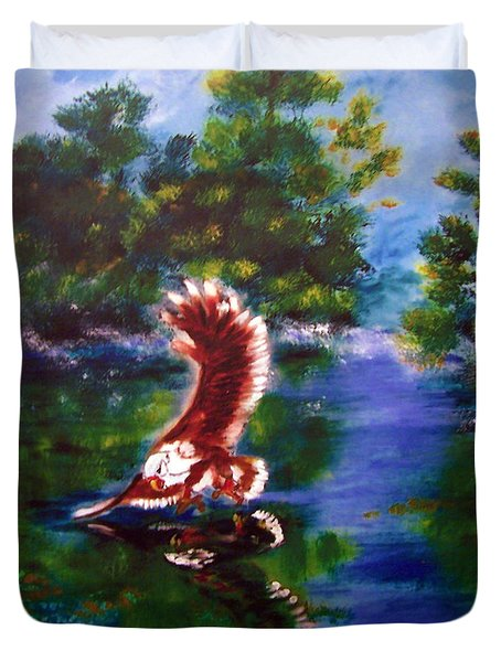 1044426 Digital Eagle Duvet Cover
