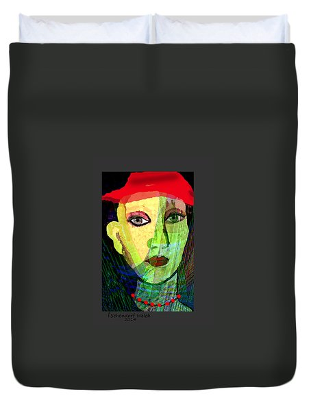 1084 - La  Signora ... Duvet Cover