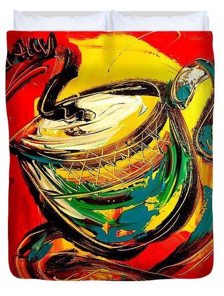 Coffee Duvet Cover by Mark Kazav
