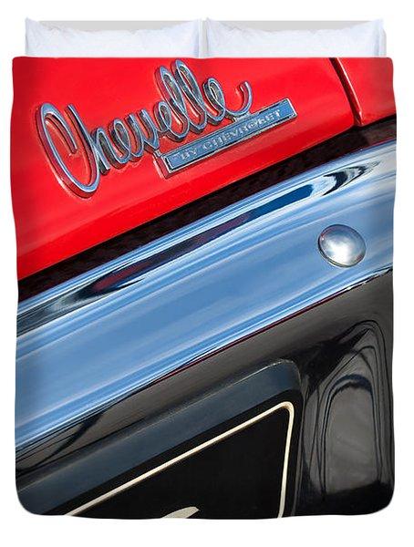 1970 Chevrolet Chevelle Ss Taillight Emblem Duvet Cover by Jill Reger