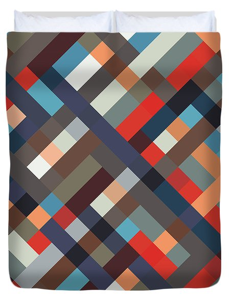Geometric Duvet Cover by Mike Taylor